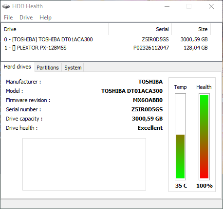 hard disk health check for HDD