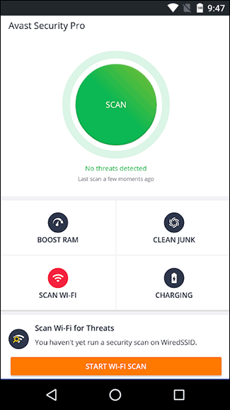 Avast is the best app to find spyware on Android