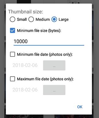 مرشح Diskdigger Pro
