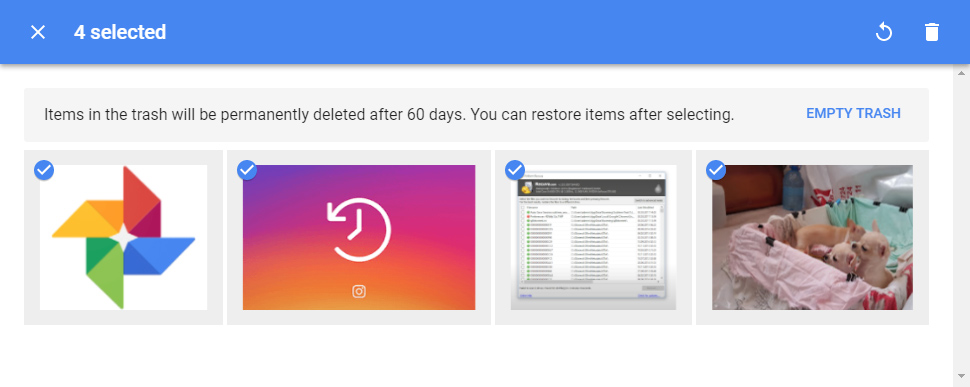 How to recover deleted pictures from instagram via Google Photos