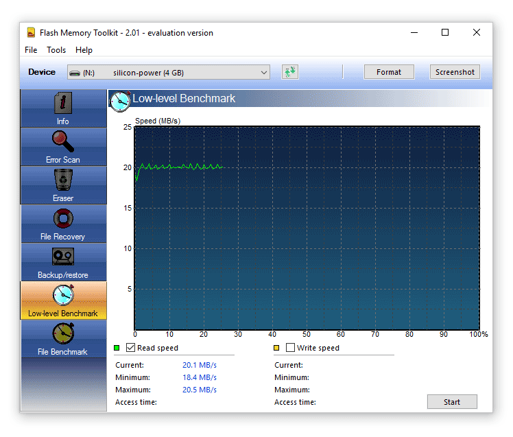 Flash Memory Toolkit screenshot