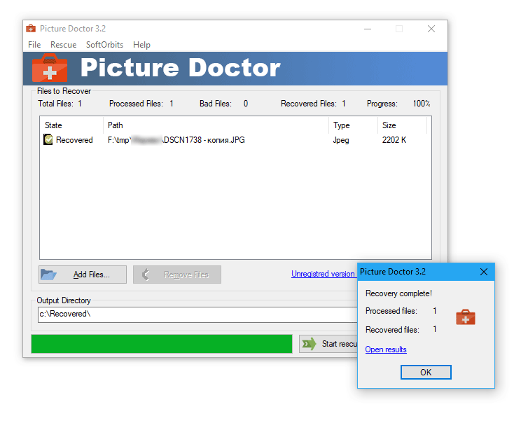 JPEG recovery software | Recover recover damaged jpg files