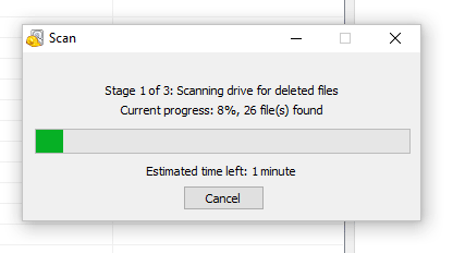 Formatted sd card scanning via Recuva