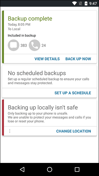 Best apps to backup sms / text messages on Android phone